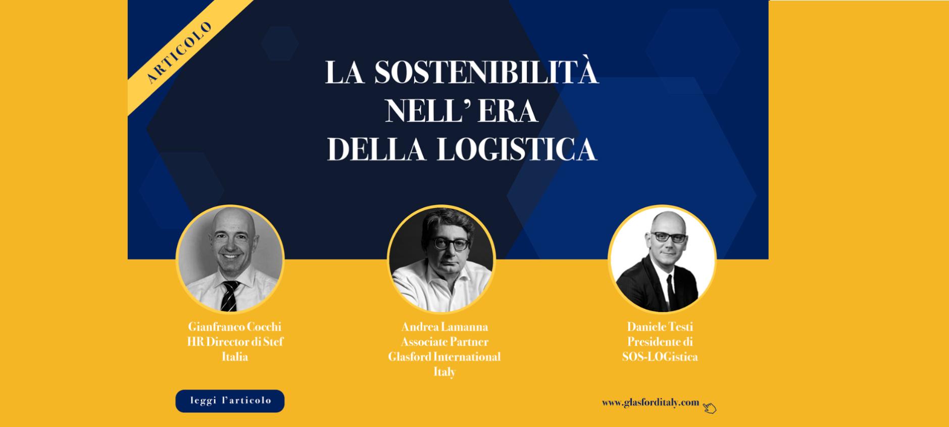 Andrea Lamanna, La sostenibilità nell'era della logistica